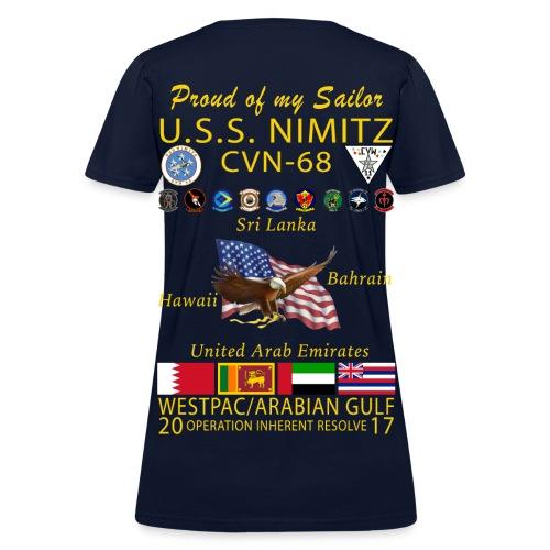 USS NIMITZ 2017 FAMILY CRUISE SHIRT - WOMENS - Women's T-Shirt