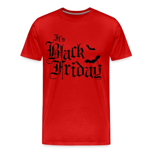 Mens Logo Shirt - Black on Red - Men's Premium T-Shirt