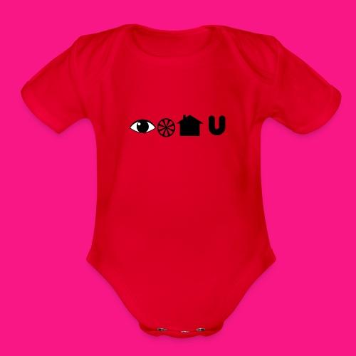 I Will House You (Babies/Unisex) - Organic Short Sleeve Baby Bodysuit