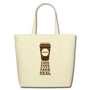 * Covfefe Coffee : Fake Populism Real Fascism *  - Sac fourre-tout en coton naturel