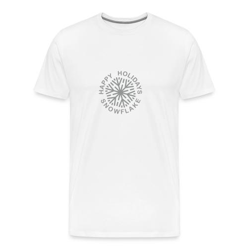 * Happy Holidays, Snowflake * (velveteen.print)  - T-shirt premium pour hommes