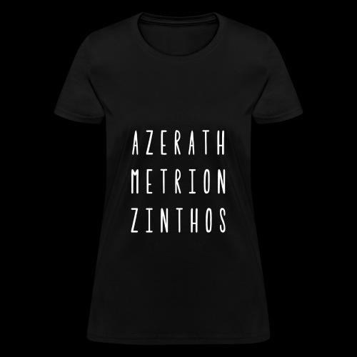 Raven Meditation - Womens Wht Font - Women's T-Shirt
