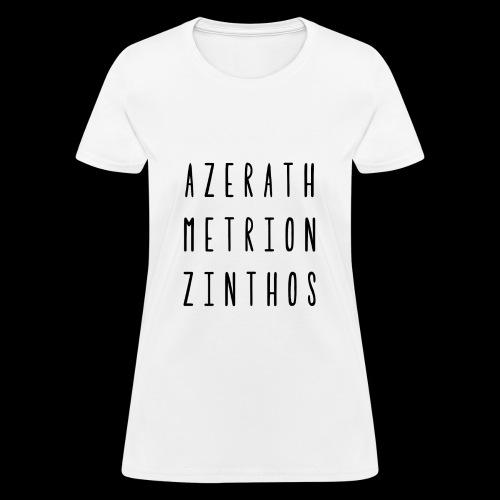 Raven Meditation - Womens Blk Font - Women's T-Shirt