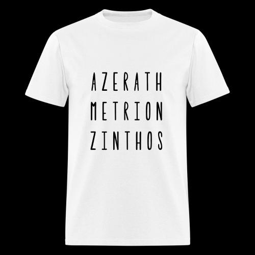 Raven Meditation - Mens Blk Font - Men's T-Shirt