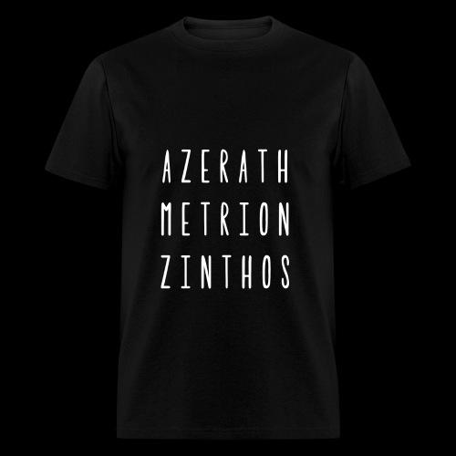 Raven Meditation - Mens Wht Font - Men's T-Shirt