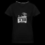 Women's T-Shirts ~ Women's V-Neck T-Shirt ~ Kick It In The Ass (Swan Song)