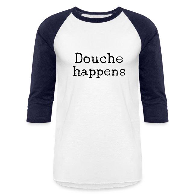 It happens baseball shirt