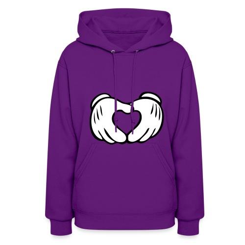 Mickey hands - pink hoodie  - Women's Hoodie