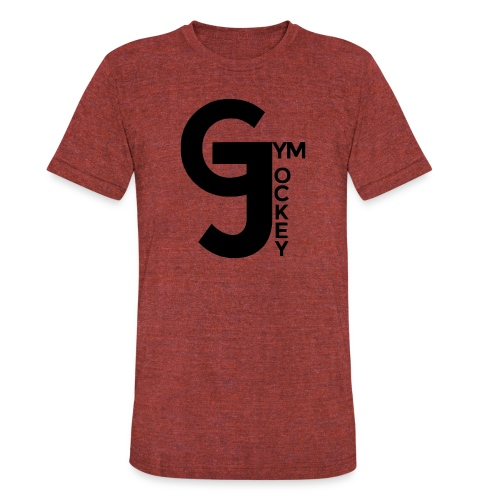 Gym Jockey Tri Blend Tee Wine - Unisex Tri-Blend T-Shirt