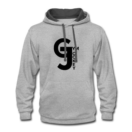 Gym Jockey Contrast Hoodie Grey - Contrast Hoodie