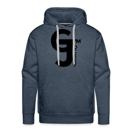 Gym Jockey Hoodie Blue Grey - Men's Premium Hoodie