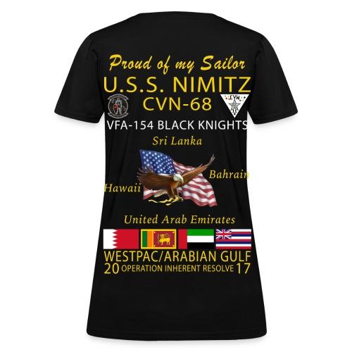 USS NIMITZ w/ VFA-154 2017  FAMILY CRUISE SHIRT - WOMENS - Women's T-Shirt