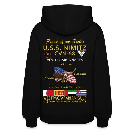 USS NIMITZ w/ VFA-147 2017 FAMILY CRUISE HOODIE - WOMENS - Women's Hoodie