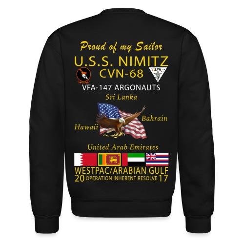 USS NIMITZ w/ VFA-147 2017 FAMILY CRUISE SWEATSHIRT - Crewneck Sweatshirt