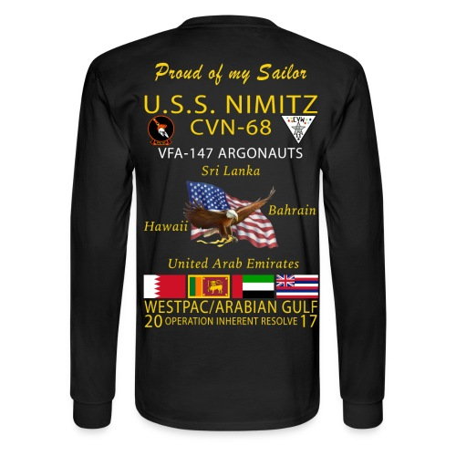 USS NIMITZ w/ VFA-147 2017 FAMILY  CRUISE SHIRT - LONG SLEEVE - Men's Long Sleeve T-Shirt