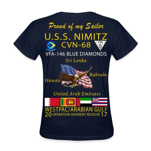 USS NIMITZ w/ VFA-146 2017 WOMENS CRUISE SHIRT - FAMILY - Women's T-Shirt