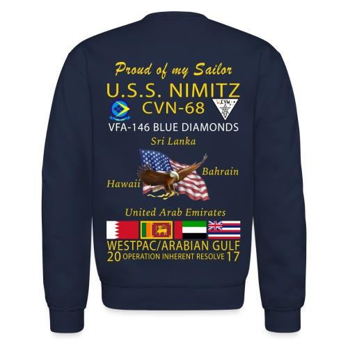 USS NIMITZ w/ VFA-146 2017 CRUISE SWEATSHIRT - FAMILY - Crewneck Sweatshirt