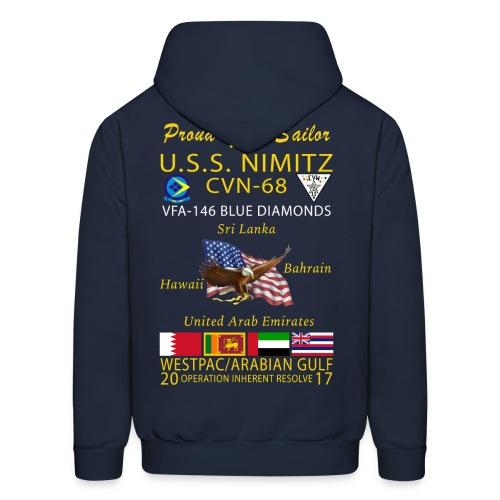 USS NIMITZ w/ VFA-146 2017 CRUISE HOODIE - FAMILY - Men's Hoodie