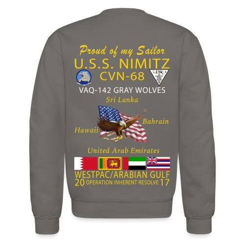 USS NIMITZ w/ VAQ-142 2017 CRUISE SWEATSHIRT - FAMILY - Crewneck Sweatshirt
