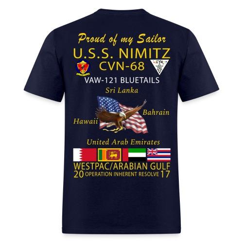 USS NIMITZ w/ VAW-121 2017 CRUISE SHIRT - FAMILY - Men's T-Shirt