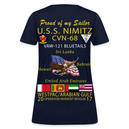 USS NIMITZ w/ VAW-121 2017 WOMENS CRUISE SHIRT - FAMILY - Women's T-Shirt