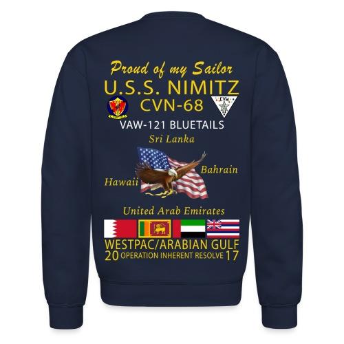 USS NIMITZ w/ VAW-121 2017 CRUISE SWEATSHIRT - FAMILY - Crewneck Sweatshirt