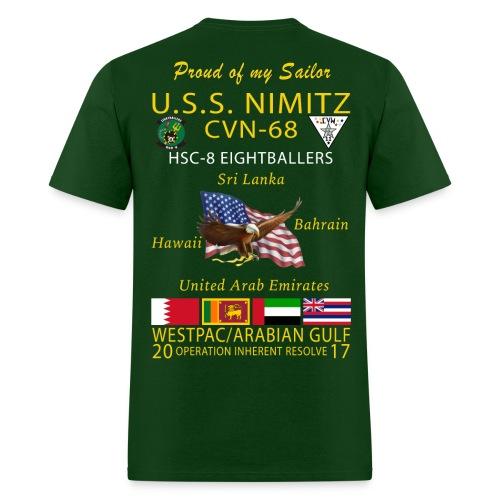 USS NIMITZ w/ HSC-8 2017 CRUISE SHIRT - FAMILY - Men's T-Shirt
