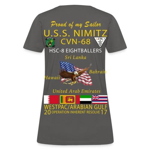 USS NIMITZ w/ HSC-8 2017 WOMENS CRUISE SHIRT - FAMILY - Women's T-Shirt
