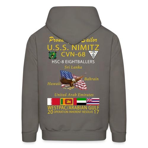 USS NIMITZ w/ HSC-8 2017 CRUISE HOODIE - FAMILY - Men's Hoodie