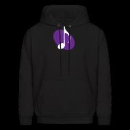 Hoodies ~ Men's Hoodie ~ Purple Music Emblem Hoodie