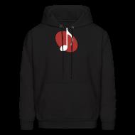Hoodies ~ Men's Hoodie ~ Red Music Emblem Hoodie