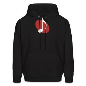 Red Music Emblem Hoodie - Men's Hoodie