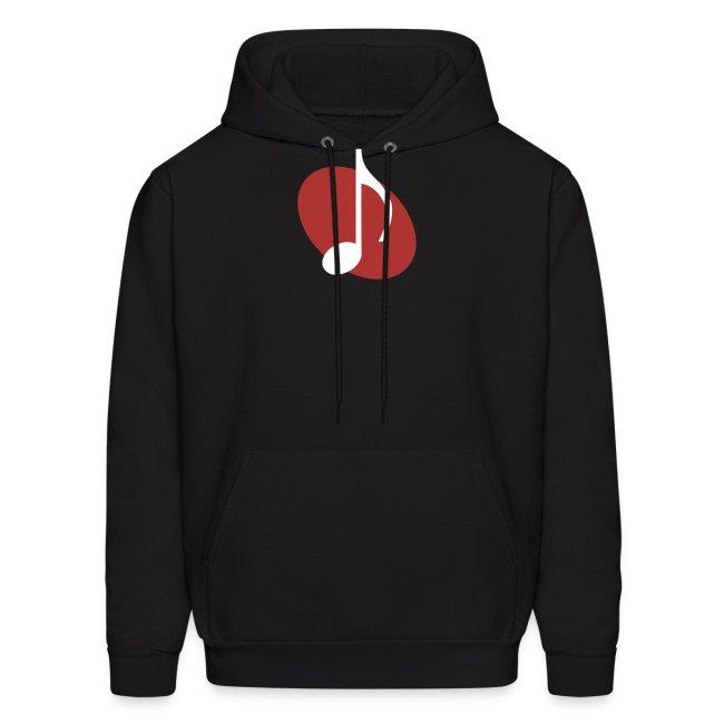 Red Music Emblem Hoodie