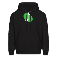 Hoodies ~ Men's Hoodie ~ Green Music Emblem Hoodie