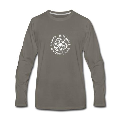 * Happy Holidays, Snowflake * (velveteen.print)  - Men's Premium Long Sleeve T-Shirt