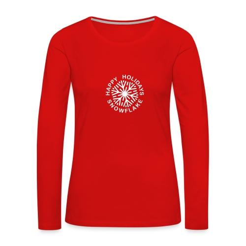 * Happy Holidays, Snowflake * (velveteen.print)  - T-shirt Premium à manches longues pour femmes
