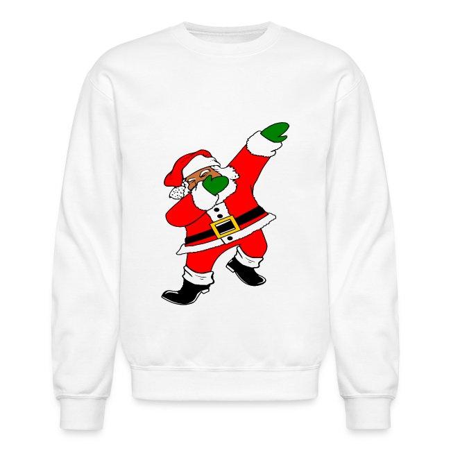 b0f77116 UGLY Christmas Sweaters + SOUL   Dab Santa Womens (White) - Crewneck ...