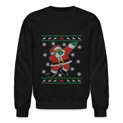 Ugly Sweater Style- Dab Santa Women's (Black) - Crewneck Sweatshirt
