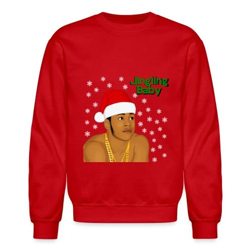 Jingling Baby-LL Cool J  (Red) - Crewneck Sweatshirt