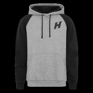 gray sleeve Hoddie  - Colorblock Hoodie