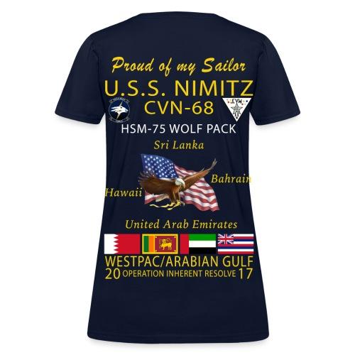 USS NIMITZ w/ HSM-75 WOMENS CRUISE SHIRT - FAMILY - Women's T-Shirt