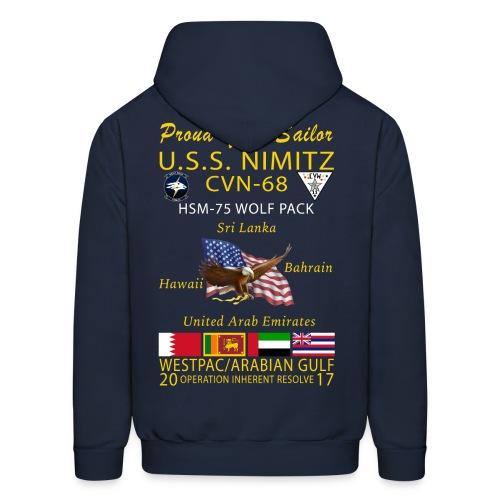 USS NIMITZ w/ HSM-75 CRUISE HOODIE - FAMILY - Men's Hoodie