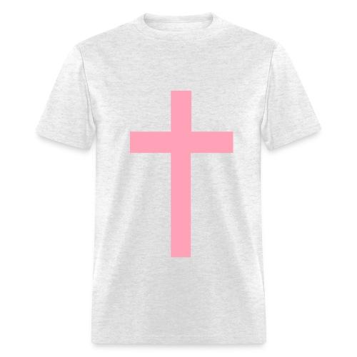 Pink Cross - Men's T-Shirt