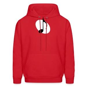 White Music Emblem Hoodie - Men's Hoodie