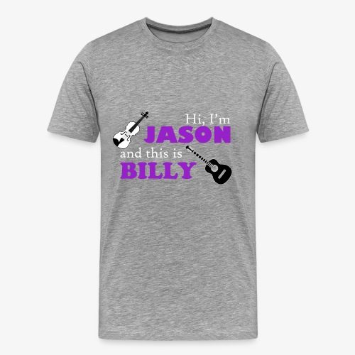 Jason and Billy/Billy and Jason Front-and-Back Tee--Light Gray - Men's Premium T-Shirt