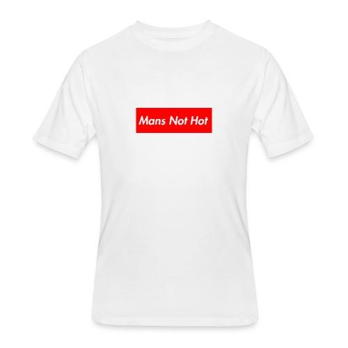 Mans Not Hot Tee - Men's 50/50 T-Shirt