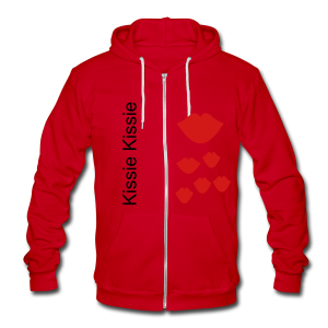 Kissie Kissie - Unisex Fleece Zip Hoodie by American Apparel