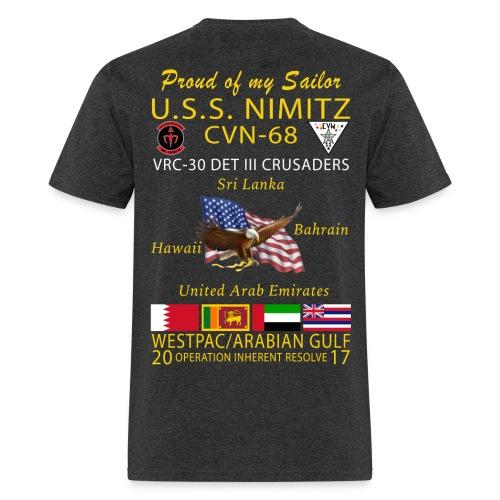 USS NIMITZ w/ VRC-30 Det III CRUISE SHIRT - FAMILY - Men's T-Shirt