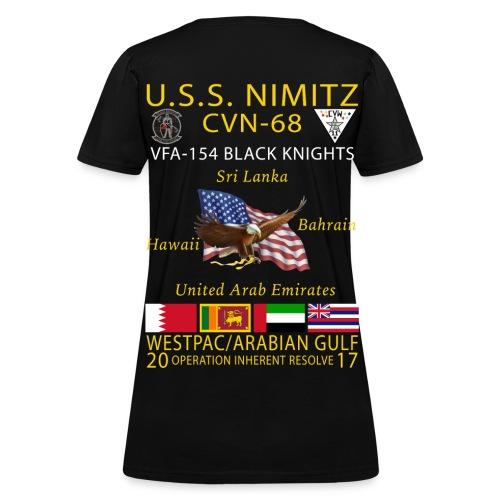 USS NIMITZ w/ VFA-154 2017 WOMENS CRUISE SHIRT - Women's T-Shirt