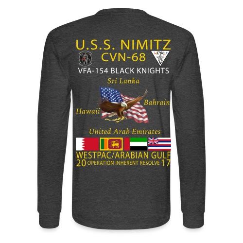 USS NIMITZ w/ VFA-154 2017 LONG SLEEVE CRUISE SHIRT - Men's Long Sleeve T-Shirt